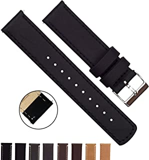 f23d60e09 BARTON Quick Release - Top Grain Leather Watch Band Strap - Choice of Color  & Width