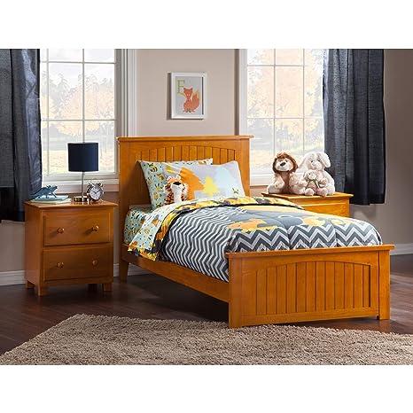 Amazon.com: Plataforma individual XL cama en Caramel Latte ...