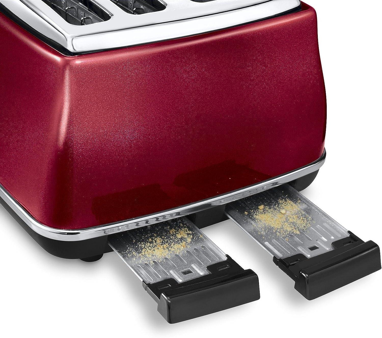 Delonghi Vintage Icona Red 4 Slice Toaster