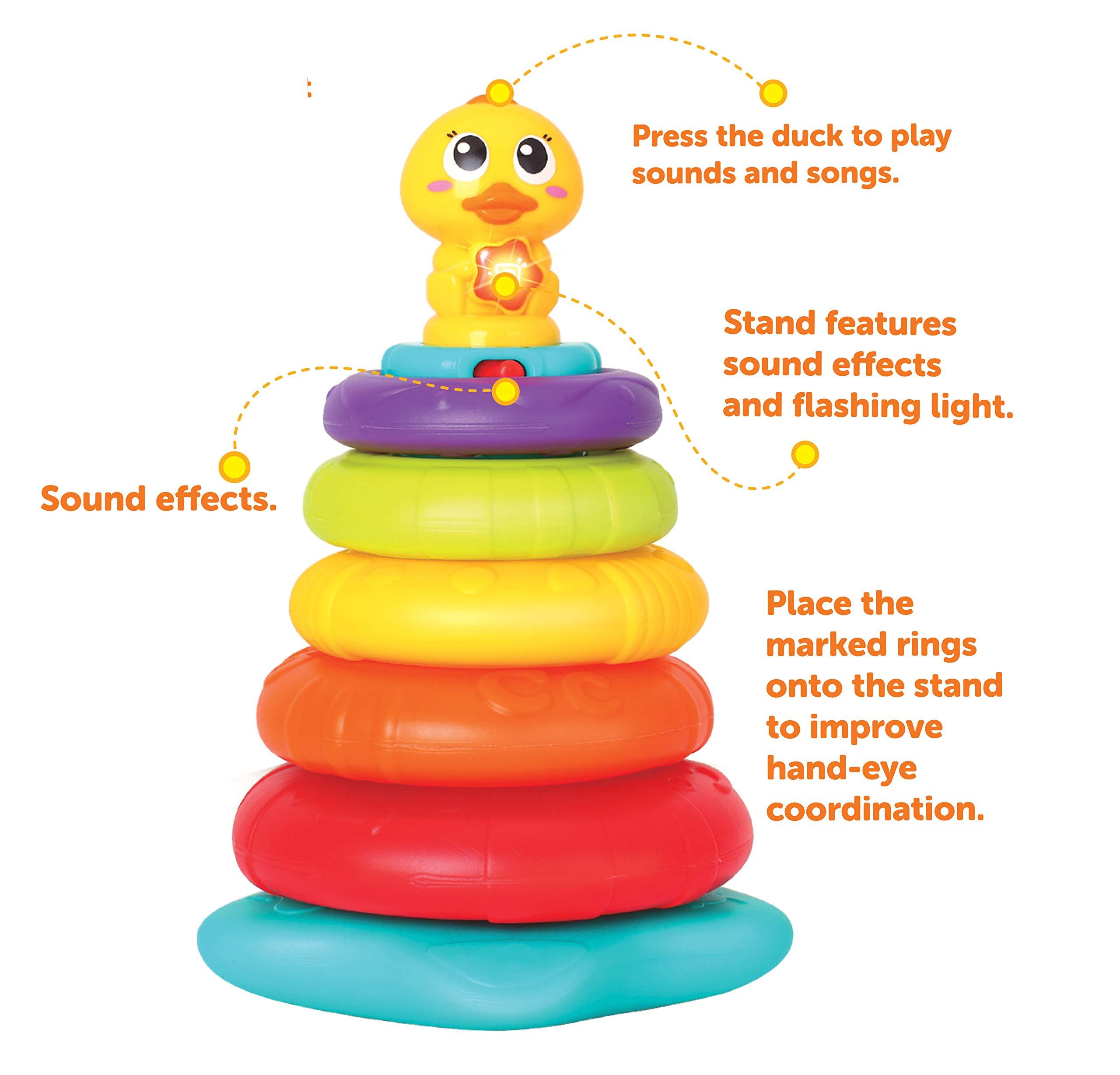JOYIN Baby Activity Center Flashing Baby Stack Toys with Shape Color Sorting Alphabet Activity Cube Music Cute Toys by JOYIN (Image #4)