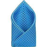TIE ON Men's Designer Neck Pocket Square_Blue