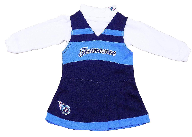 40985f30 Amazon.com: Tennessee Titans Blue Girls Infant Cheerleader Dress ...
