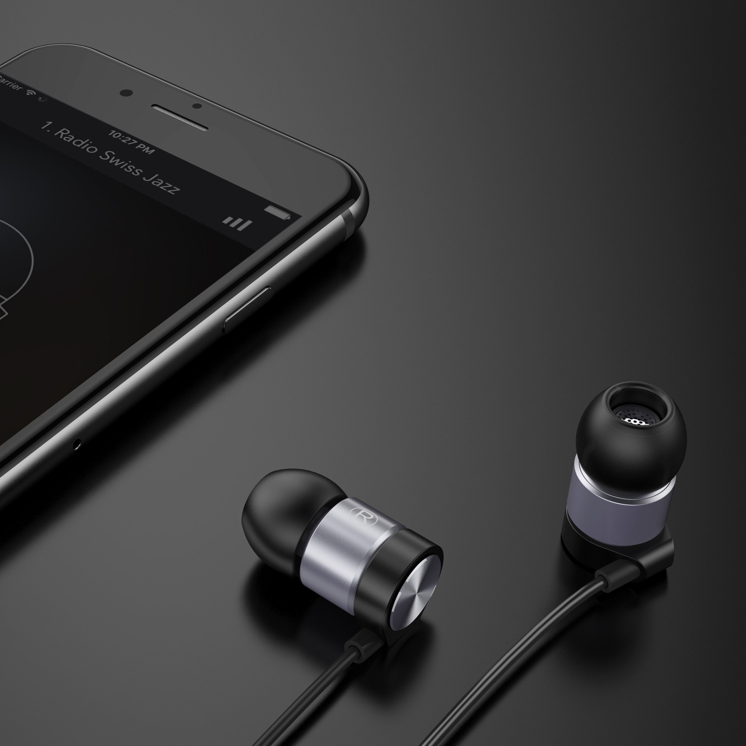 In Ear Headphones Maxtronic Metasonics Earbud with Line-in Microphone Heavy Bass Dynamic Driver Earphones with Non Tangle Fabric Braid For Running Gym iOS Android Phones Music Player iPhone by FEECHAGIER (Image #4)