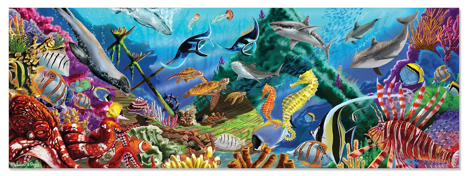 Melissa & Doug Underwater Oasis Jumbo Jigsaw Floor Puzzle (200 pcs, over 4 feet long)
