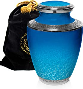 Ocean Tranquility Cremation Urns for Human Ashes Adult for Funeral, Burial, Columbarium or Home, Cremation Urns for Human Ashes Adult 200 Cubic Inches, Urns for Ashes, Adult/Large
