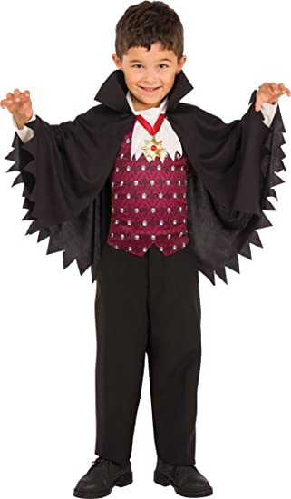 Rubies Costume Childu0027s Little V&ire Costume Small Multicolor  sc 1 st  Amazon.com & Amazon.com: Rubies Little Vampire Boys Dracula Costume: Toys u0026 Games