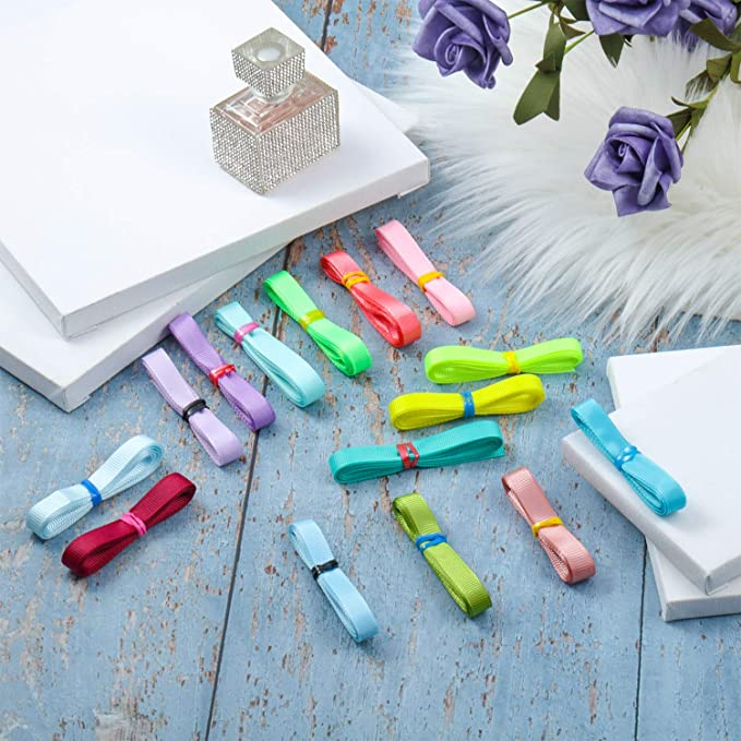 Set de Cintas de Grosgrain S/ólidas de 48 Color 96 Yardas 3// 8 Pulgadas de Ancho Cinta de Tela de Color Arcoiris para Coser Artesan/ía de Lazos de Pelo Fiesta Boda Envoltura de Regalo Arreglo Floral