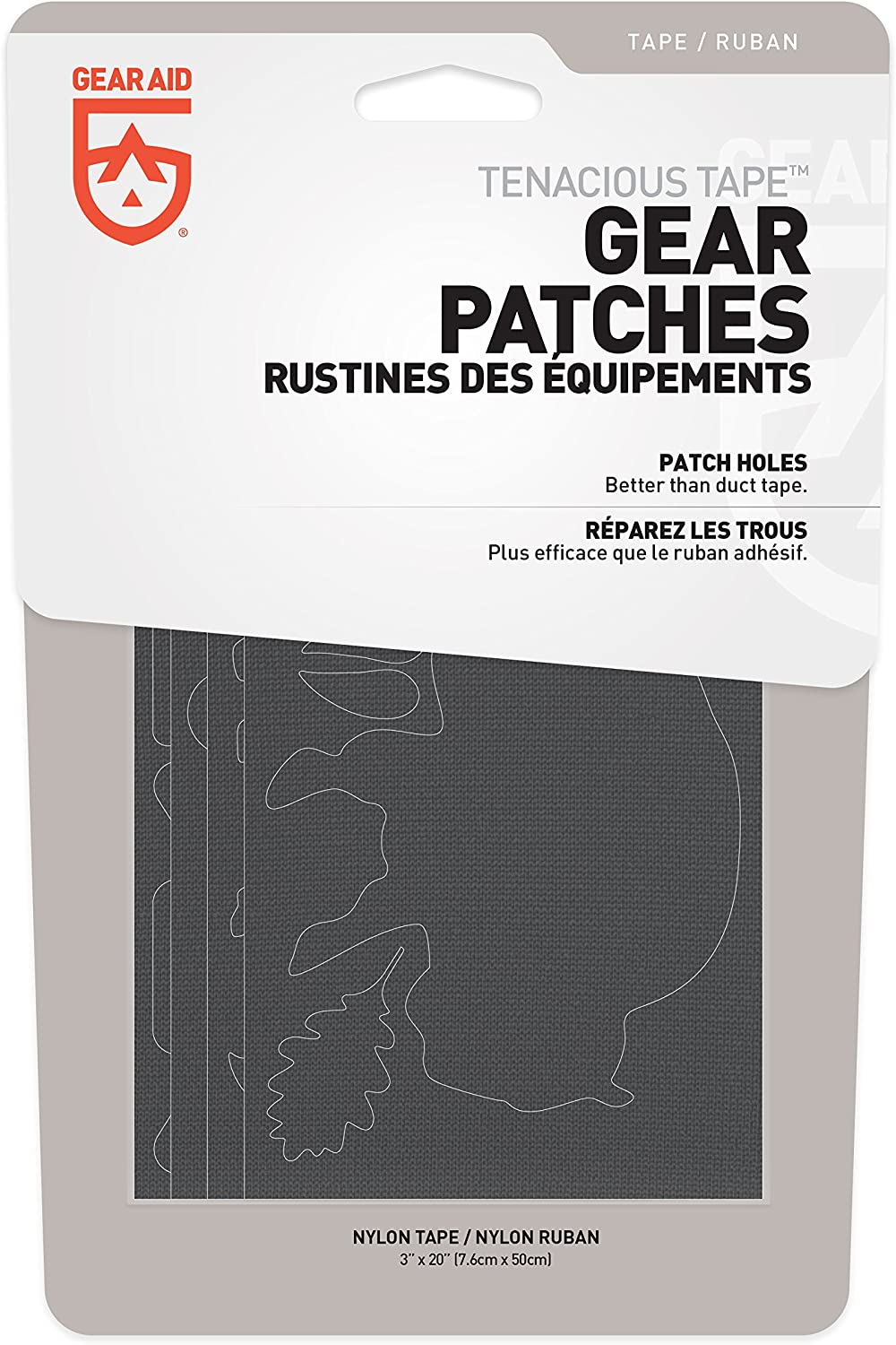 """3/"""" x 20/"""" Tent and Outerwear Repair Gear Aid Tenacious Tape Gear Patches for Jacket"""