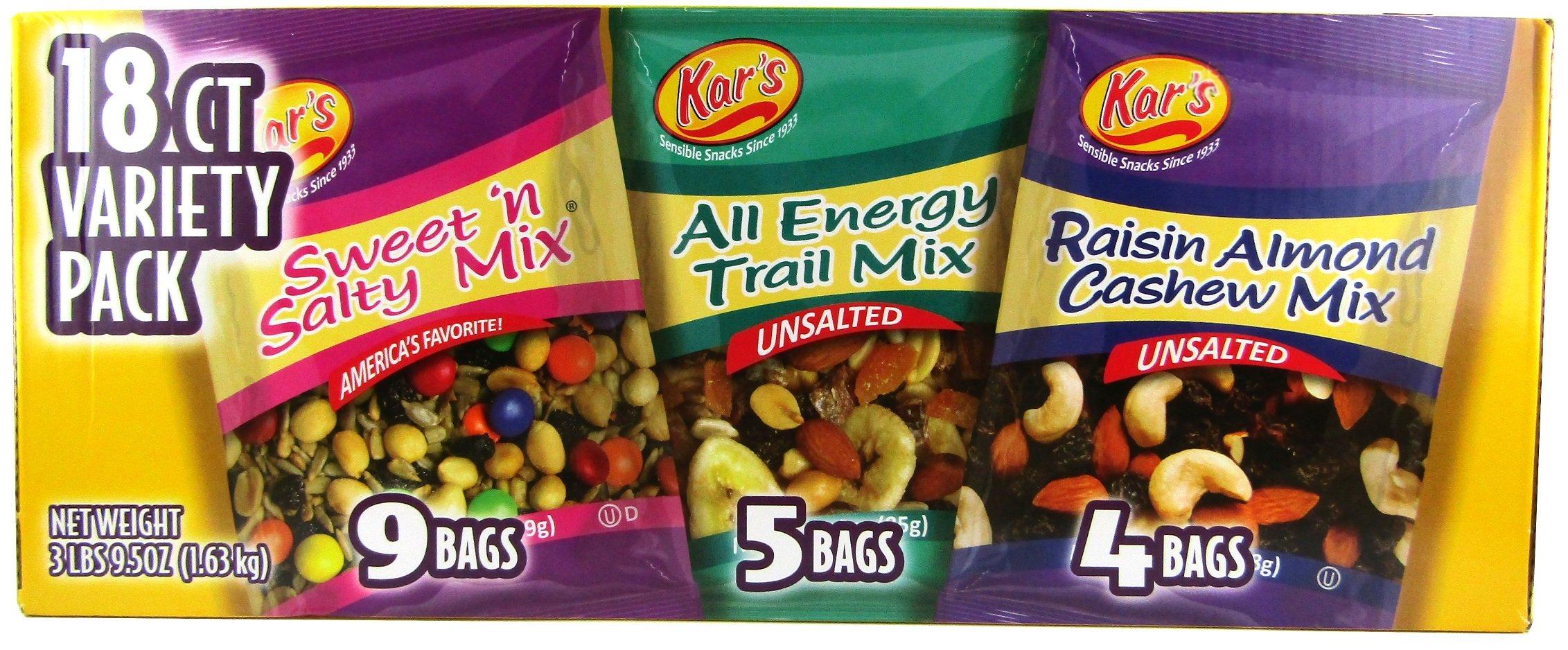 Kar's Nut & Fruit Mix Variety Pack - 18ct
