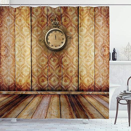 Amazon Com Ambesonne Victorian Decor Shower Curtain Set Antique