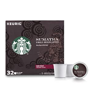 Starbucks Sumatra Dark Roast Single Cup Coffee for Keurig Brewers, 1 box of 32 (32 total K-Cup pods)