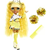 Rainbow High Cheer Sunny Madison – Yellow Cheerleader Fashion Doll with Pom Poms and Doll Accessories, Great Gift for Kids 6-
