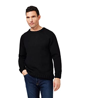 60% cheap fair price huge range of Woolovers Mens Pure Wool Fishermans Crew Neck Knitted Jumper