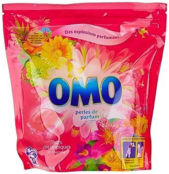 Omo Lessive Capsules Fleurs Des Tropiques Et Magnolia 32 Dosettes