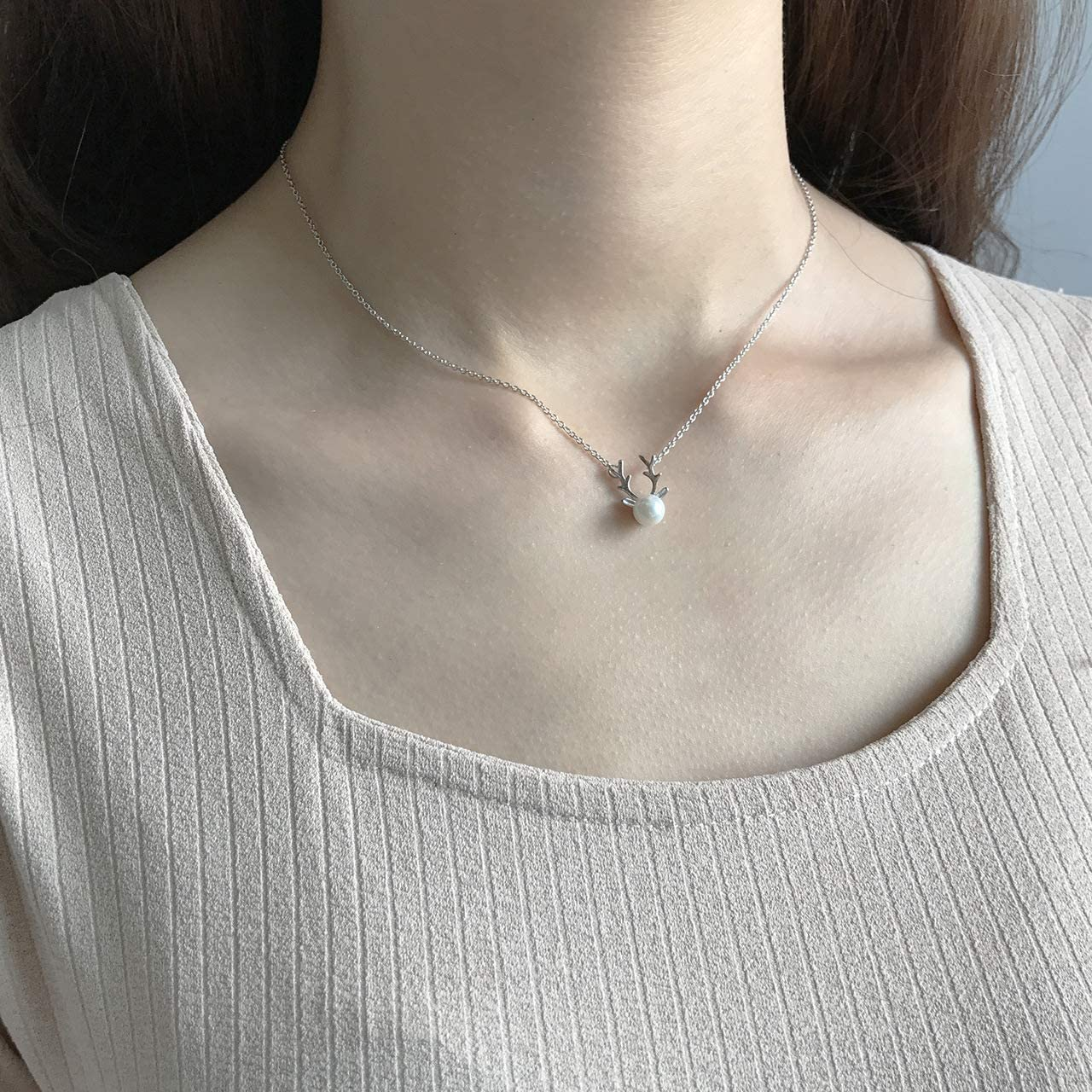 New Jewelry 925 Sterling Silver Pearl Necklace Personalized Necklace