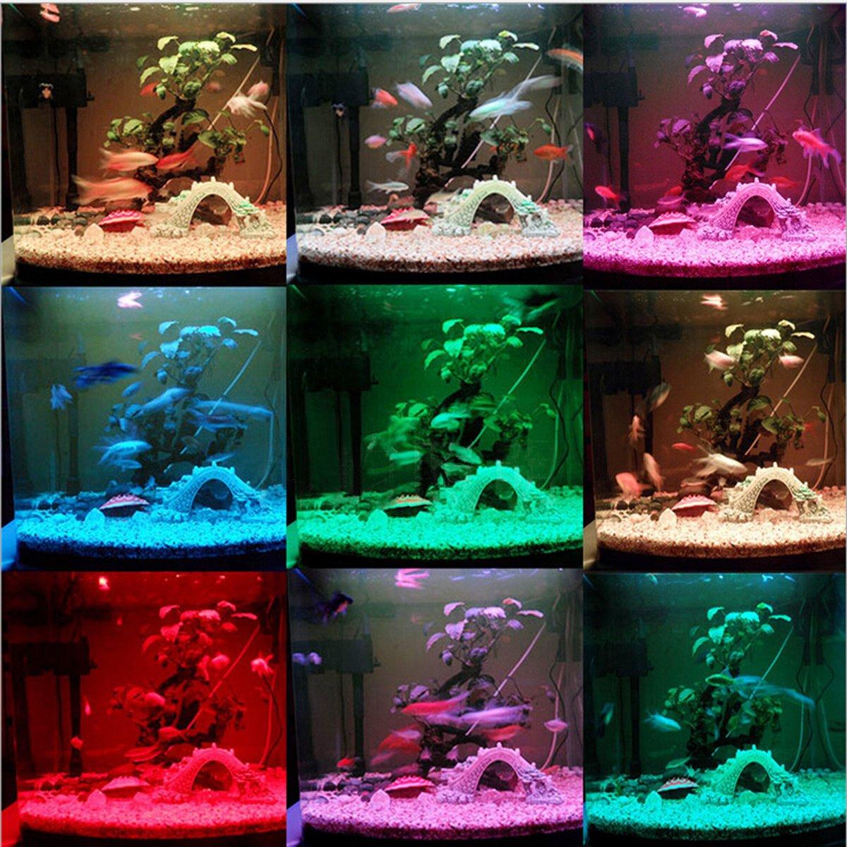 GreenSun Luz LED Acuario 5050 SMD RGB, Pantalla LED Acuario, Iluminación LED para Acuarios Plantados Lámpara LED para Peceras 27-36 cm, 8W, 36LEDs con 24 ...