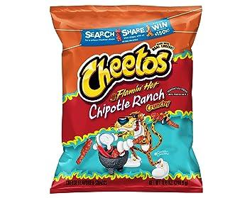 Amazoncom Cheetos Flamin Hot Chipotle Ranch Crunchy Cheese
