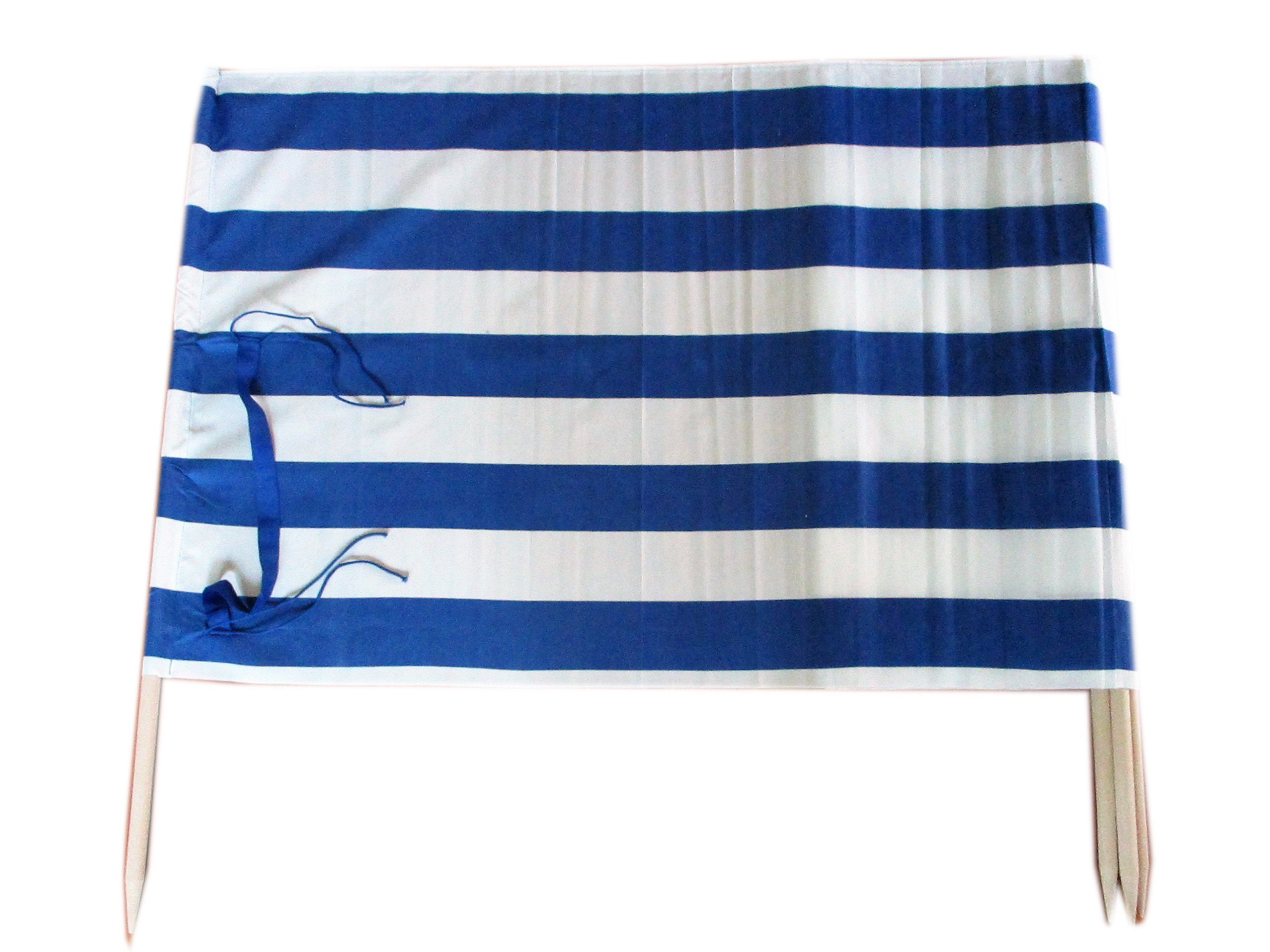 13 ft Beach Windscreen Privacy Windbreak with a Bag Made in Europe (Blue/White Stripes) by Frost Hats