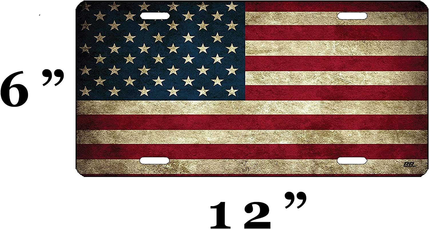 USA Flag License Plate Novelty Auto Car Tag Vanity Gift Aluminum license plate