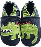Carozoo Crocodile Blu Scuro (Crocodile Dark Blue) Scarpe Sole morbida pelle Unisex bambino