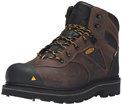 Keen Utility Men's Tacoma Soft Toe Waterproof Work Boot, Cascade Brown, ...