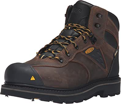 KEEN Utility Men's Tacoma Soft Toe WP-M Work Boot, Cascade Brown, 7 W US