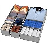 Drawer Organizer Clothes, 8 Pack Underwear Drawer Organizer, Foldable Cloth Storage Box Closet Dresser Drawer Divider Organiz