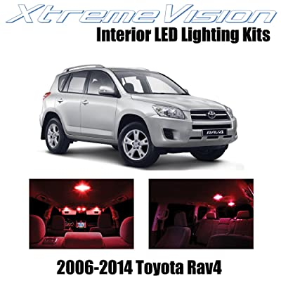 XtremeVision Interior LED for Toyota RAV4 2006-2014 (6 Pieces) Red Interior LED Kit + Installation Tool: Automotive