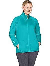 Just My Size Womens Active Full-Zip Mock Neck Jacket Fleece Jacket