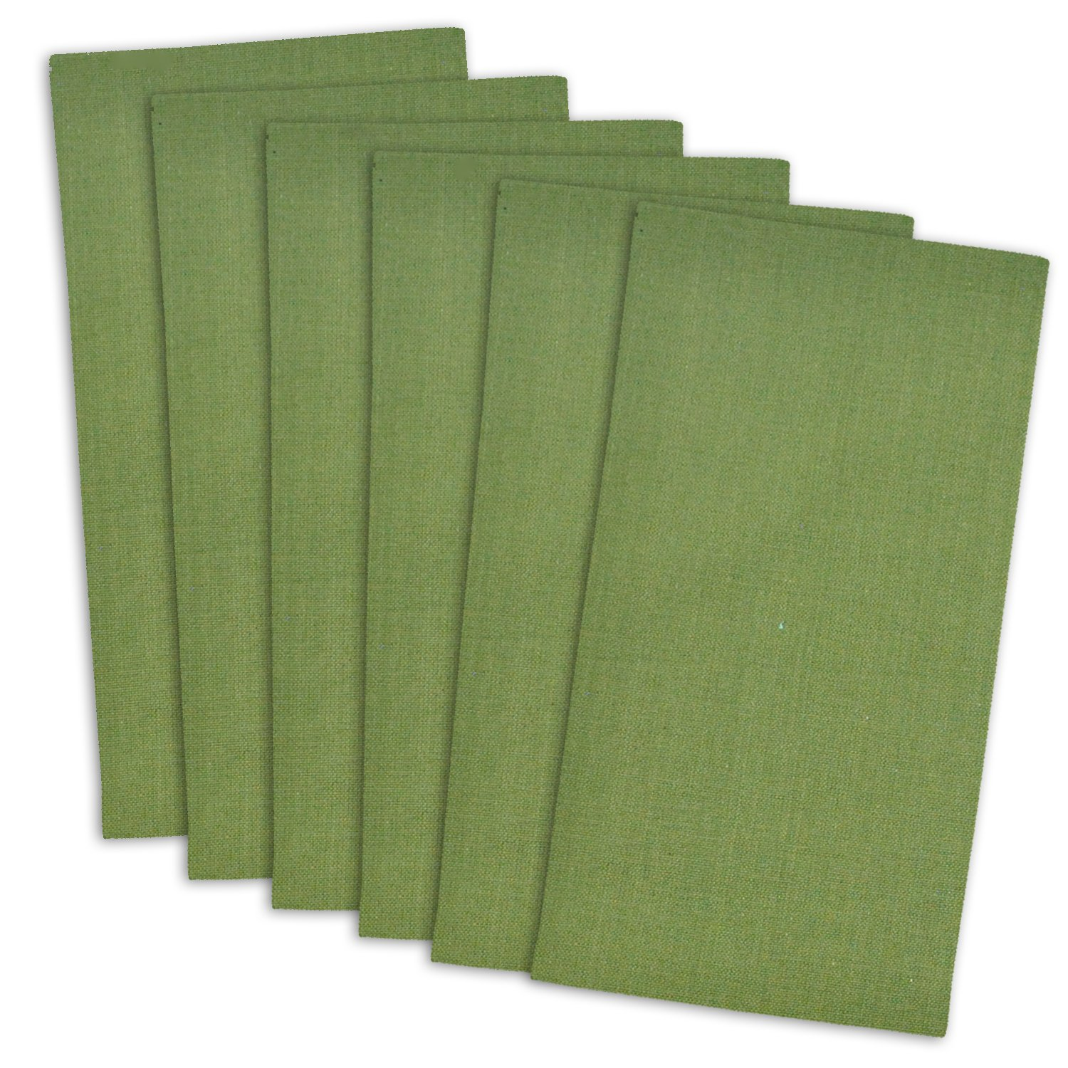 DII 100% Cotton Cloth Napkins, Oversized 20x20'' Dinner Napkins, For Basic Everyday Use, Banquets, Weddings, Events, or Family Gatherings - Set of 6, Olive Green