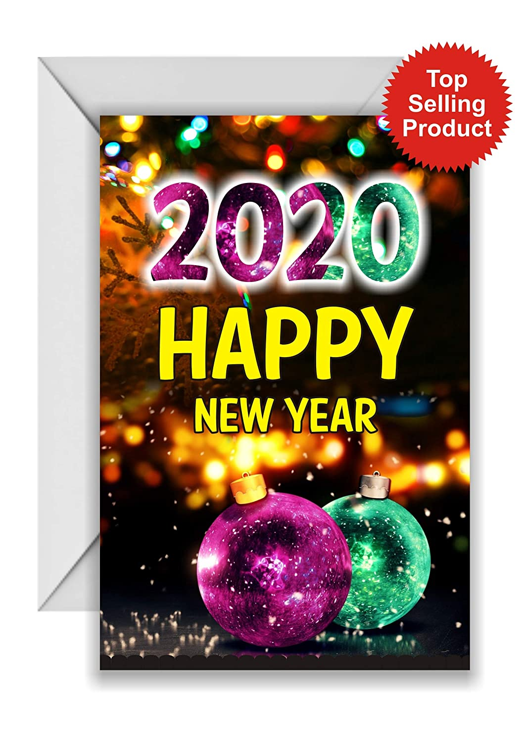 Zohagreetings Wishing Special Happy New Year 2020 Greeting Card Amazon In Home Kitchen