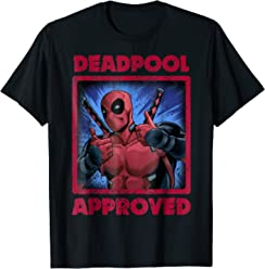 Marvel Deadpool Two Thumbs Up Approved Graphic T-Shirt