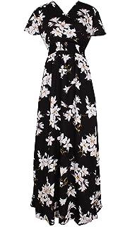 d66fd5468 Women Black Summer Dress Maxi Plus Size Graduation Chiffon Gift Long  Sleeveless Sexy Floral Sundress