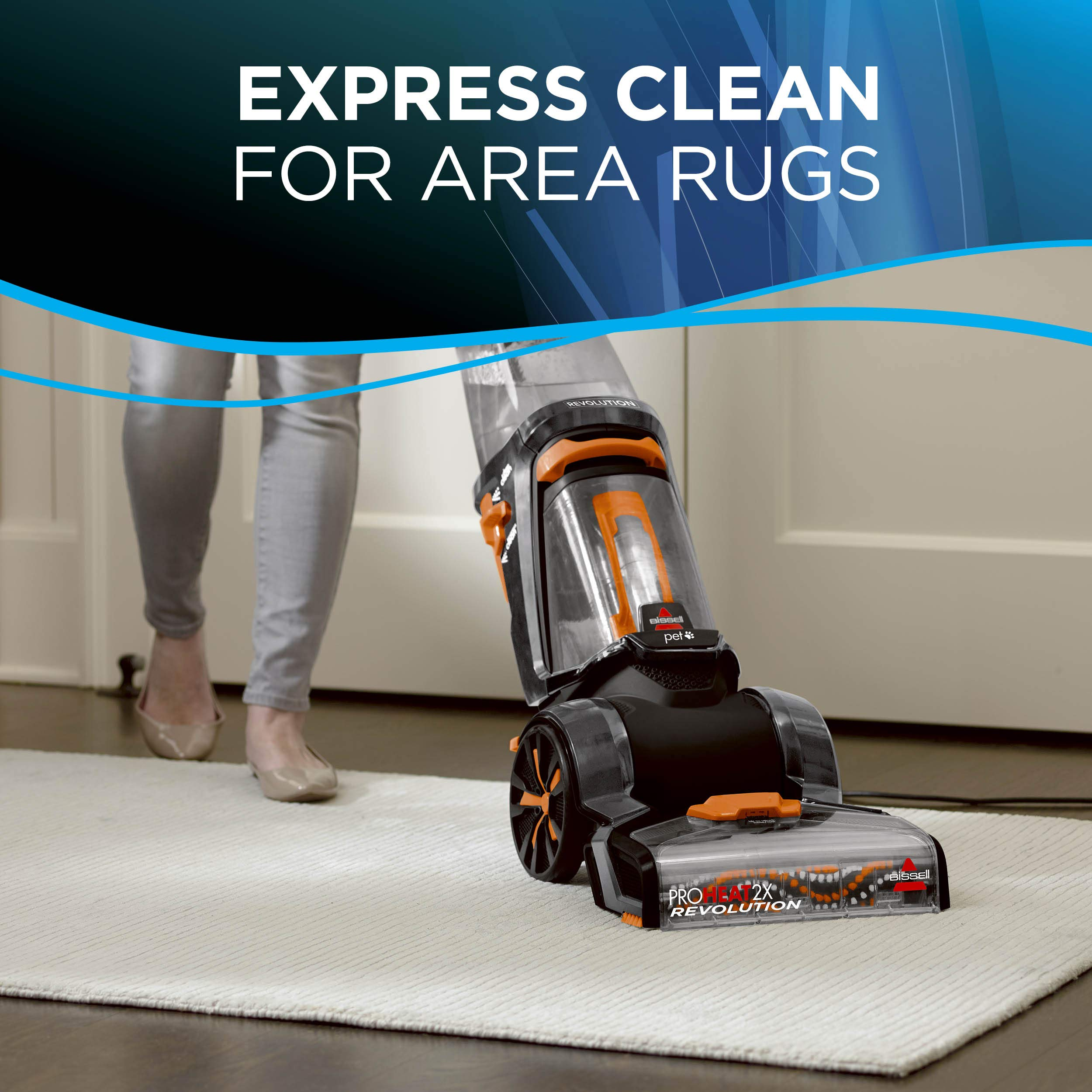 BISSELL ProHeat 2X Revolution Pet Full Size Upright Carpet Cleaner, 1548F, Orange by Bissell (Image #6)