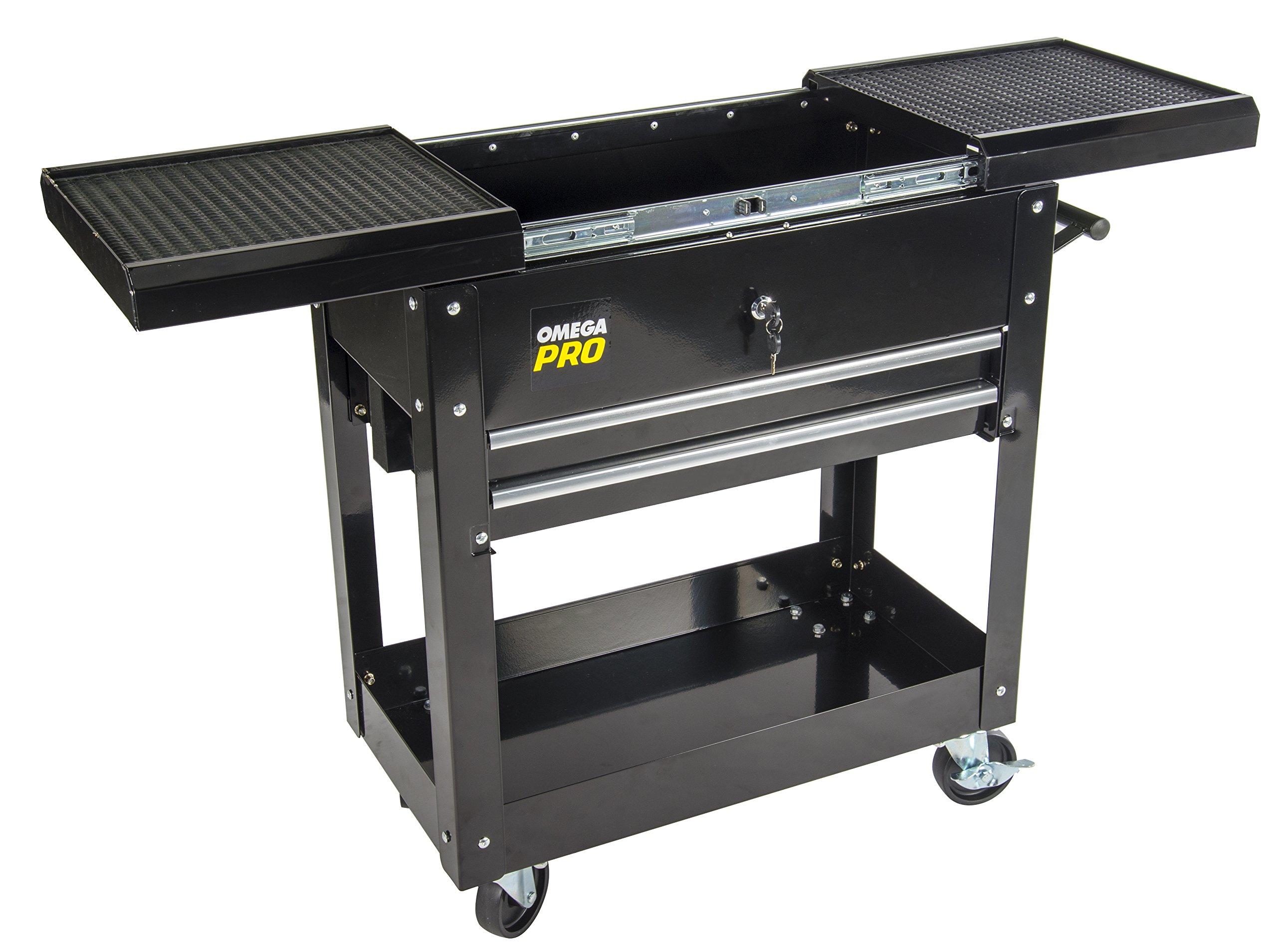 Omega Pro 97431 Omega Pro Heavy Duty Tool Cart, 17.32'' Height, 16.74'' Width, 31.1'' Length
