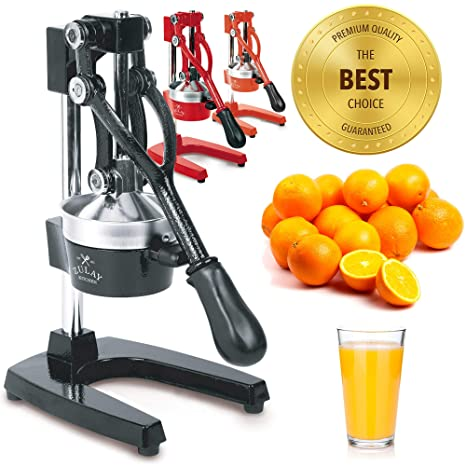 Zulay Professional Citrus Juicer - Manual Citrus Press and Orange Squeezer - Metal Lemon Squeezer - Premium Quality Heavy Duty Manual Orange Juicer ...