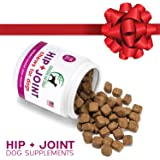 Glucosamine Chondroitin, MSM, Organic Turmeric Soft Chews by Genuine Naturals, Hip and Joint Supplement for Dogs, Supports Healthy Joint Function and Helps With Pain Relief, 120-Count
