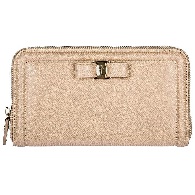 rivenditore all'ingrosso b63fd 4457c Salvatore Ferragamo portafoglio donna beige: Amazon.it ...