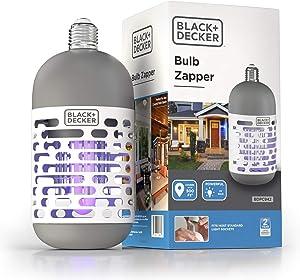 BLACK + DECKER UV LED Light Bulb Electric Bug Zapper for Indoor