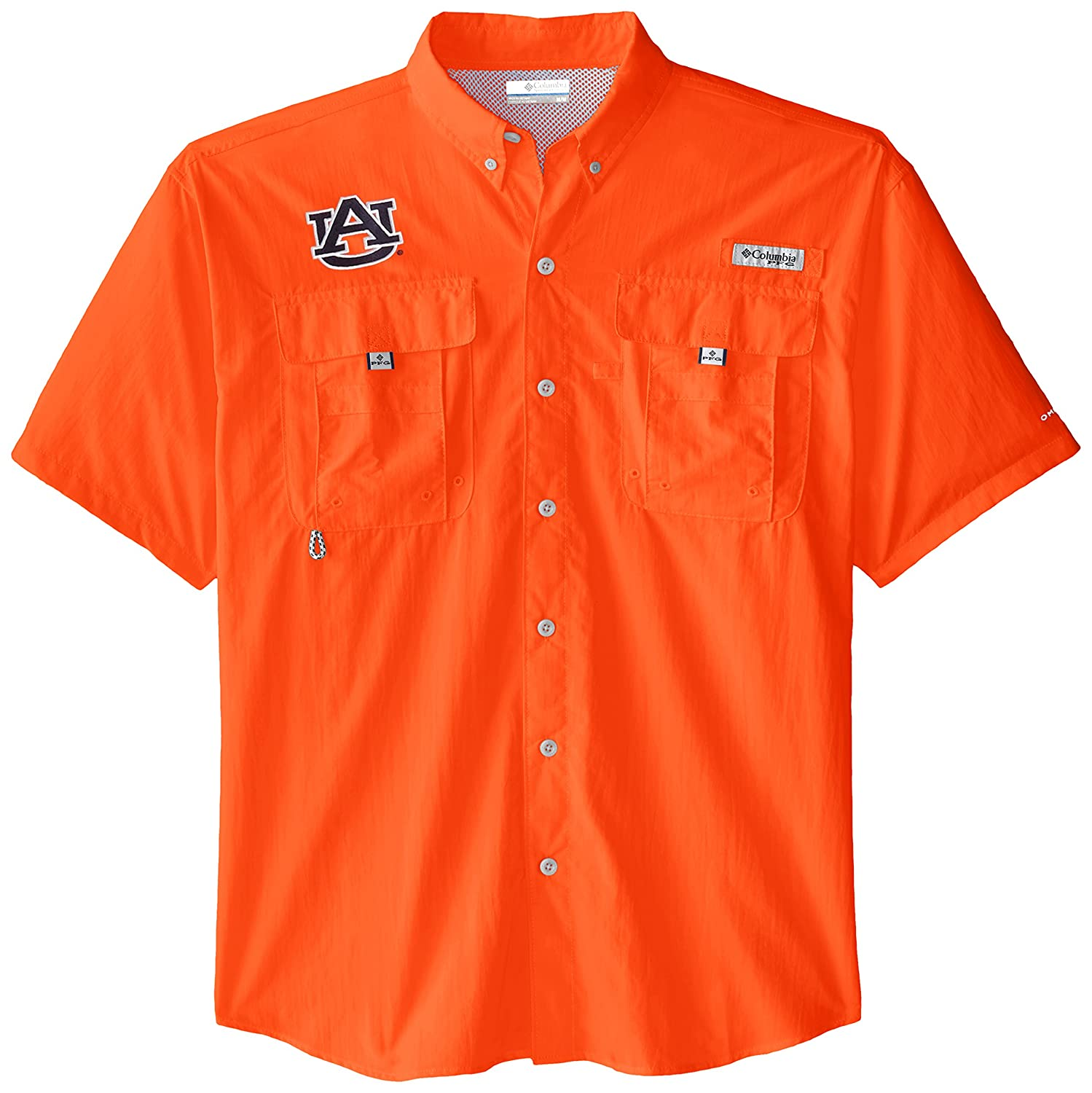 Spark Orange NCAA Auburn Tigers Mens Collegiate Bahama Short Sleeve Shirt Medium