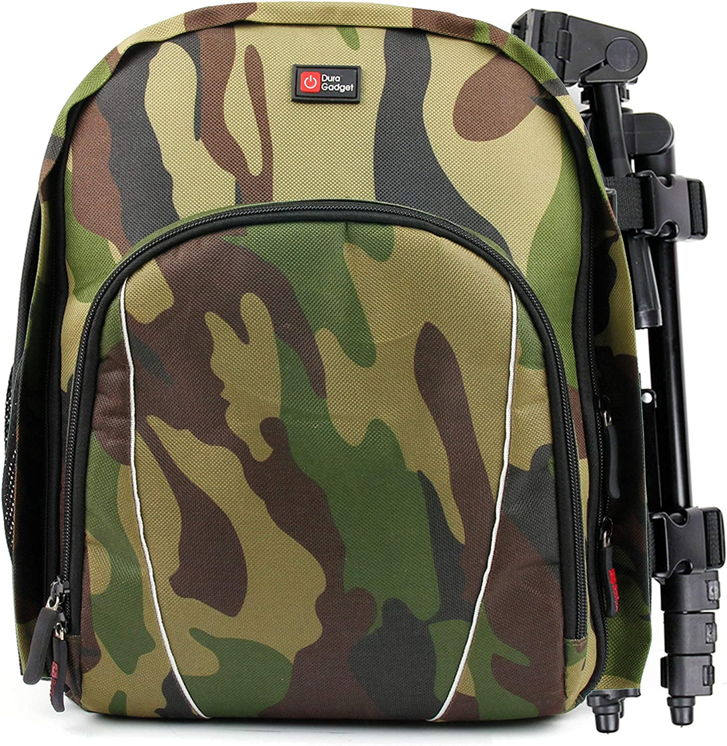 DURAGADGET Camouflage Backpack w/Customizable Interior & Raincover - Compatible with Xiaomi Mi Notebook Air 12.5-Inch & Mi Notebook Air 13.3-Inch