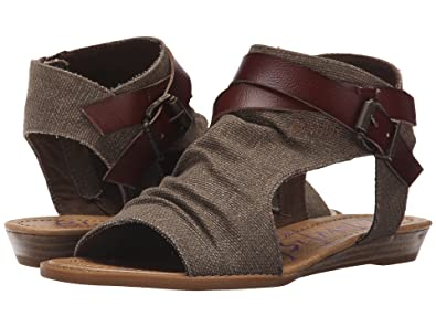 03b09ff14890 Image Unavailable. Image not available for. Color  Blowfish Women s Balla  Wedge Sandal ...