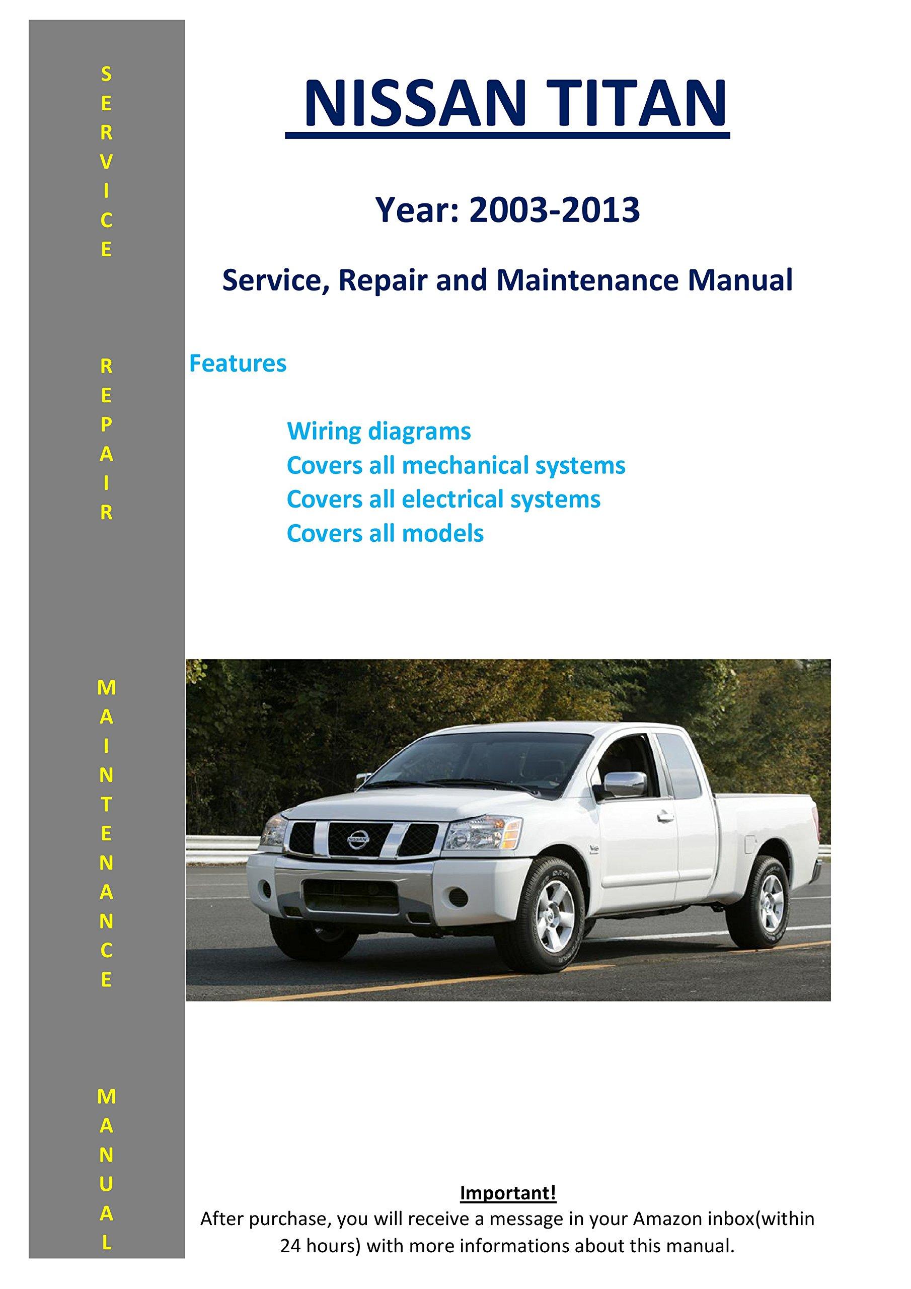 nissan titan 2003-2013 service repair workshop maintenance manual map – 2014