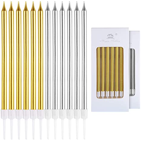Amazon.com: Frienda - 48 velas metálicas para tartas, velas ...