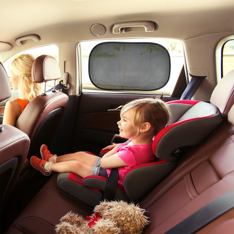 2 St/ück selbsthaftende Sonnenblende Auto f/ür Kinder und Haustiere mit Elefant CARAMAZ Sonnenschutz Auto Baby mit UV Schutz