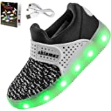 LED Chaussures,Shinmax Printemps-Été-Automne Respirante Lumineuse Chaussure USB Rechargeable Enfant LED Basket Clignotants Chaussures avec CE Certificat pour Fille et Garçon