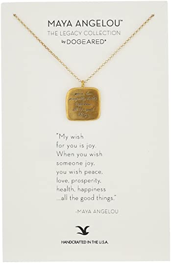 Amazon Dogeared Maya Angelou 66060Peace Love Prosperity Quote Classy Quote About Peace And Love