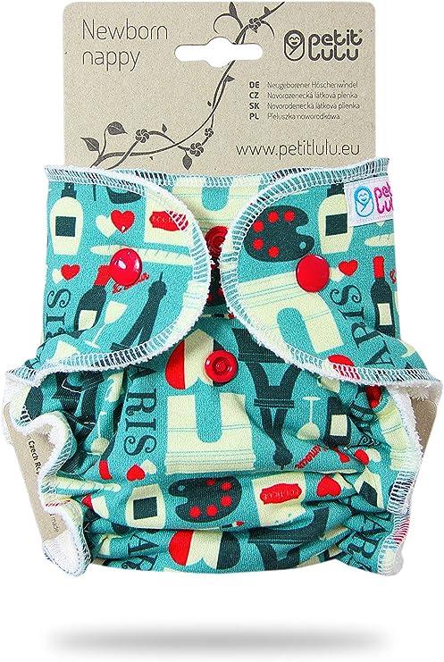 Alva Baby 6PCS pannolini lavabili pannolino di stoffa con 2 inserti riusabili 6DM25-IT