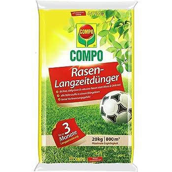 Einen hochwertigen Rasendünger finden Sie bei der Marke Compo.