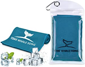 "TIME Whale Song Cooling Towel, 40""x12"" ice Cooling Towels for Neck, Stay Cool with Microfiber Towel for Yoga, Sport, Running, Gym, Workout,Camping, Fitness, Workout & More Activities"
